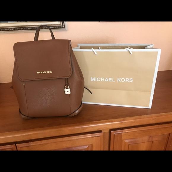 a6a6d41a5fee Michael Kors Bags | Brown Backpack | Poshmark